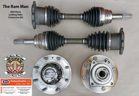 2011-2015 Chevrolet GMC 2500/3500 Locking Hub Conversion Kit (Dana 44)