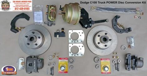 1954-1960 DODGE C100 FRONT POWER DISC BRAKE CONVERSION KIT - 11